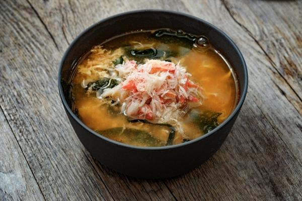 Суп острый с крабом